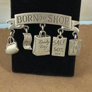 Vintage  J. Jonette Jewelry born to shop brooch
